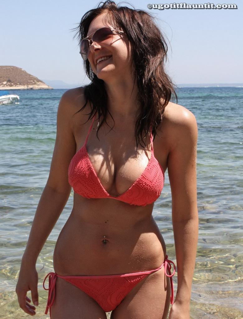 Nicola on the shore in 15 photos from U Got It! Flaunt It! picture 2