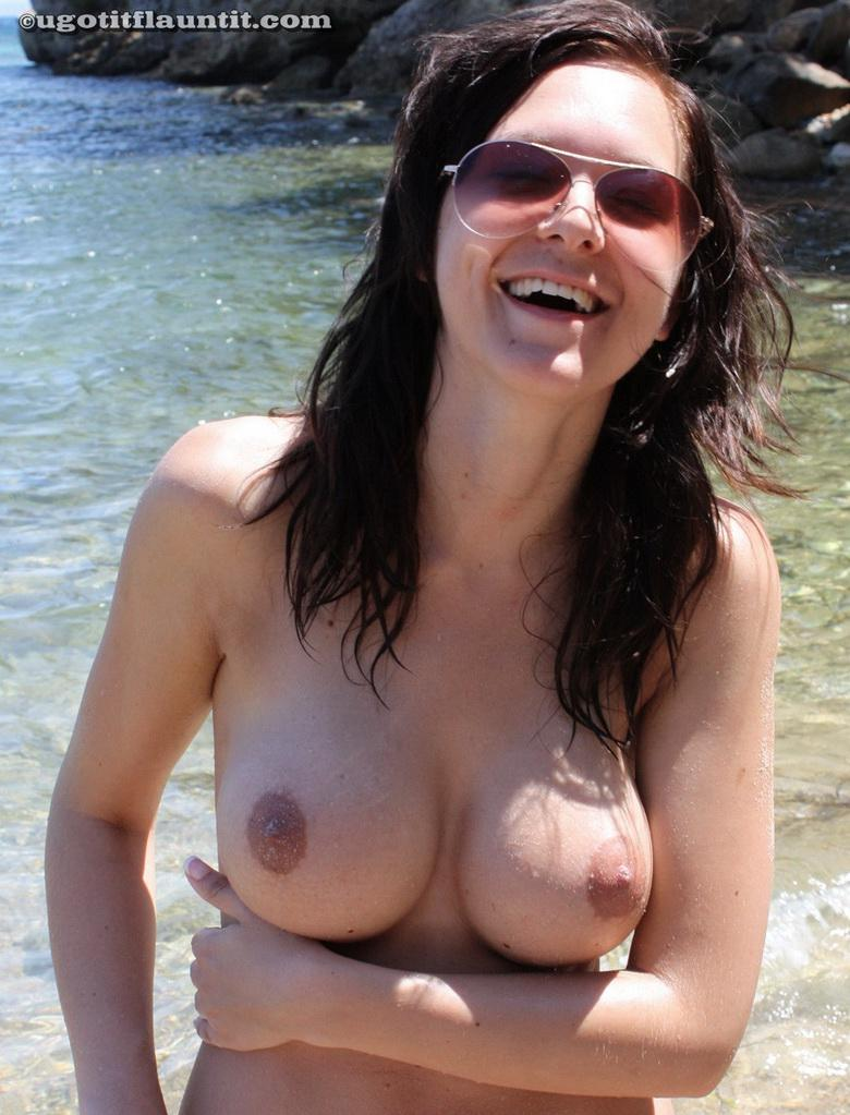 Nicola on the shore in 15 photos from U Got It! Flaunt It! picture 16