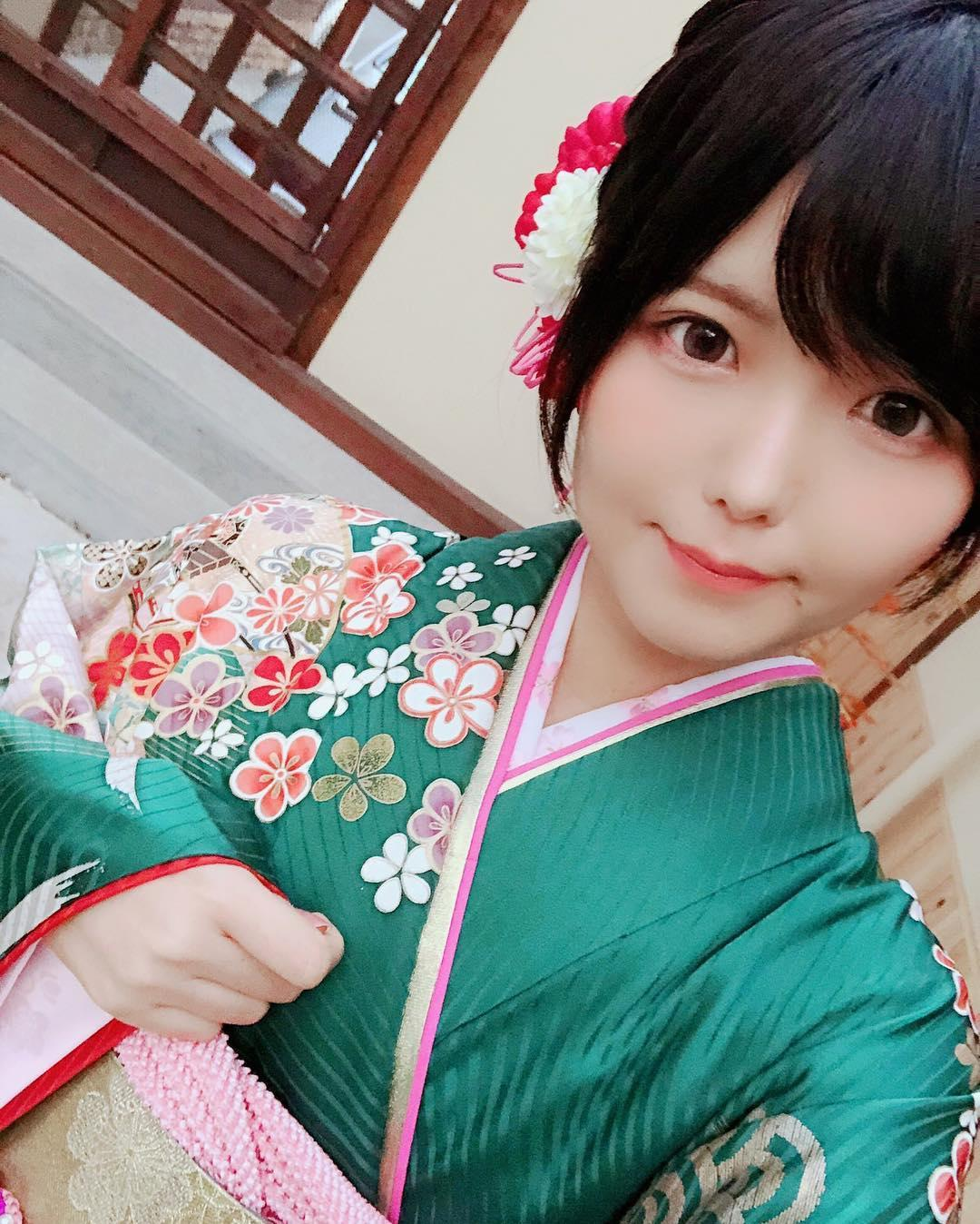 shy japanese cosplay model with some swimwear selfies  picture 8