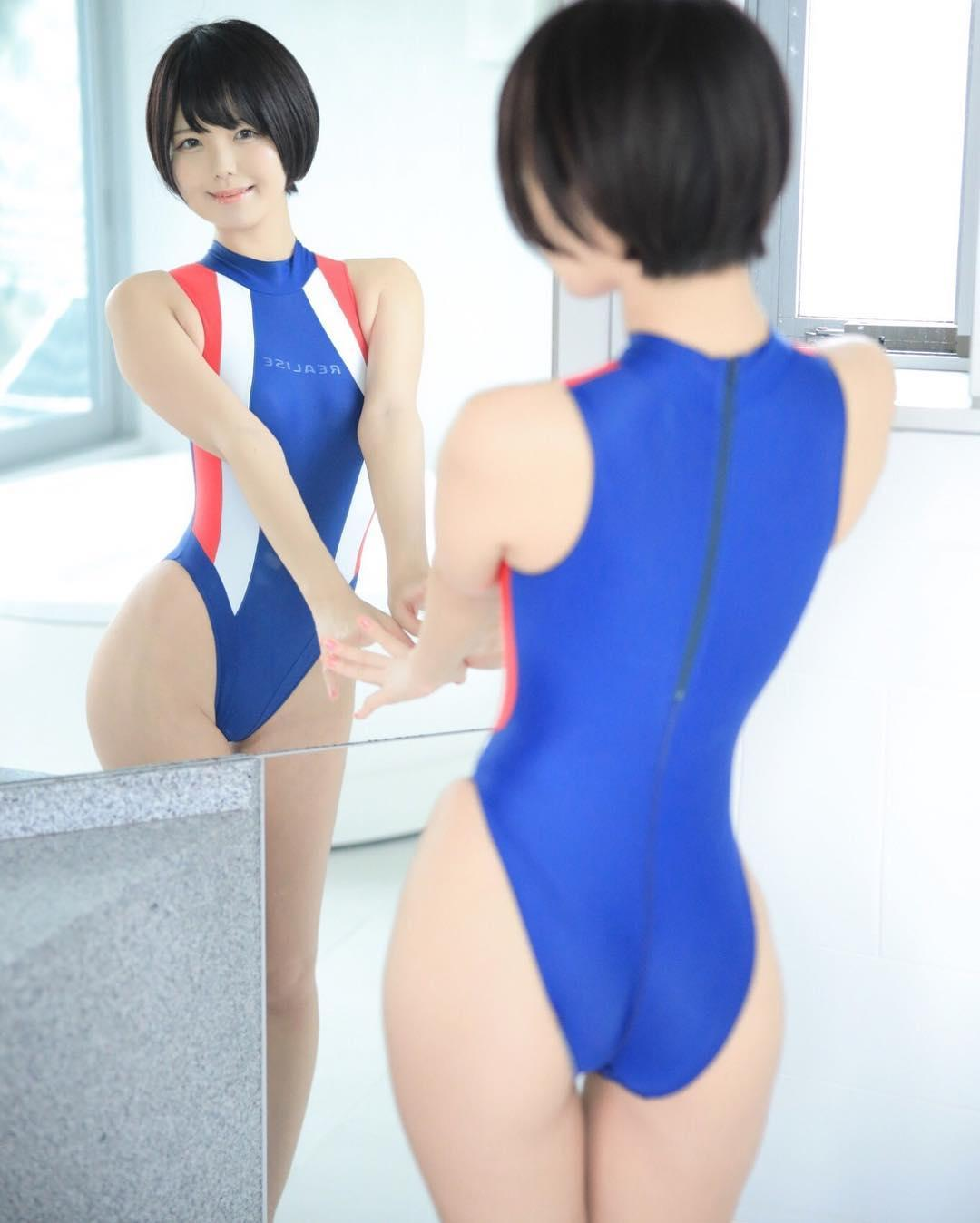 shy japanese cosplay model with some swimwear selfies  picture 10