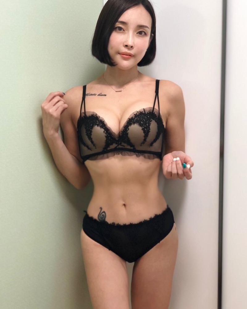 pretty korean gymshark with some hot leaked lingerie shootings picture 12