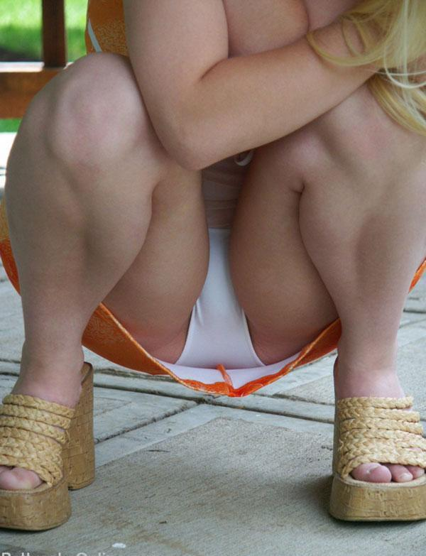 yummi white panties upskirt seethru from busty blonde teen gf picture 11