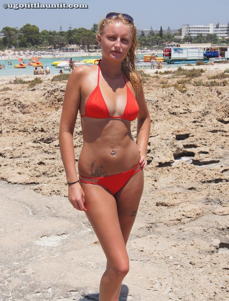 red bikini and bare tits picture 2