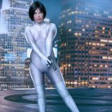 crotchless cosplay fantasy with Zoey cosplaying riot police picture 3