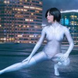 crotchless cosplay fantasy with Zoey cosplaying riot police picture 7