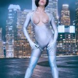crotchless cosplay fantasy with Zoey cosplaying riot police picture 9