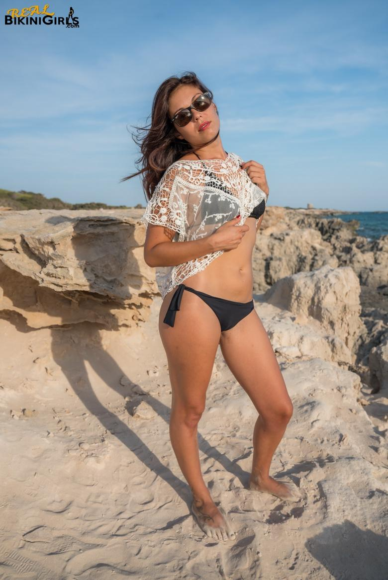 Patricia Drops Lace Crop Top in 15 photos from Real Bikini Girls photo 2