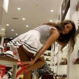 spontanious upskirt flash in fashion outlet by zishy girl shyla picture 6