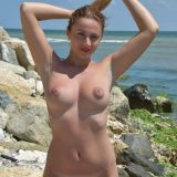 shy nudist drops all her swimwear to do naked selfies of her perfect body picture 10