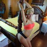 hot bored single mom doing awesome yoga selfies of her delicious body picture 13