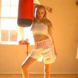 hot chick in boxer outfit doing seethru selfies picture 3