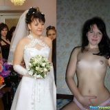 sexy random selfies of brides flashing pussy in wedding dress picture 6