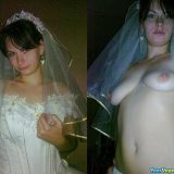 sexy random selfies of brides flashing pussy in wedding dress picture 5