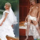 sexy random selfies of brides flashing pussy in wedding dress picture 14