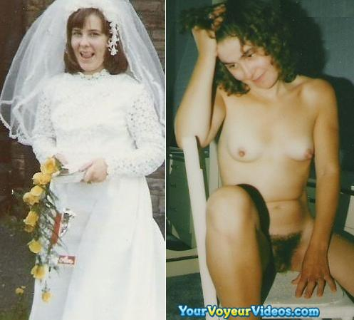 sexy random selfies of brides flashing pussy in wedding dress picture 2