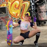 cosy skater girl with some catchy pussy selfies in great quality picture 3