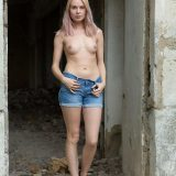 farmers daughter with some hot selfies in front of the horse stable picture 3